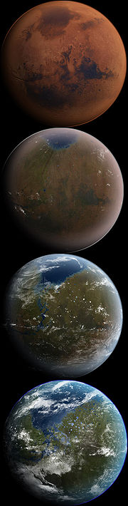 Going...going...grounded. Could we live on Mars? (Clickable! For Wiki site on terraforming - spiting Good Scientist Commandments there, but it is a good read!)