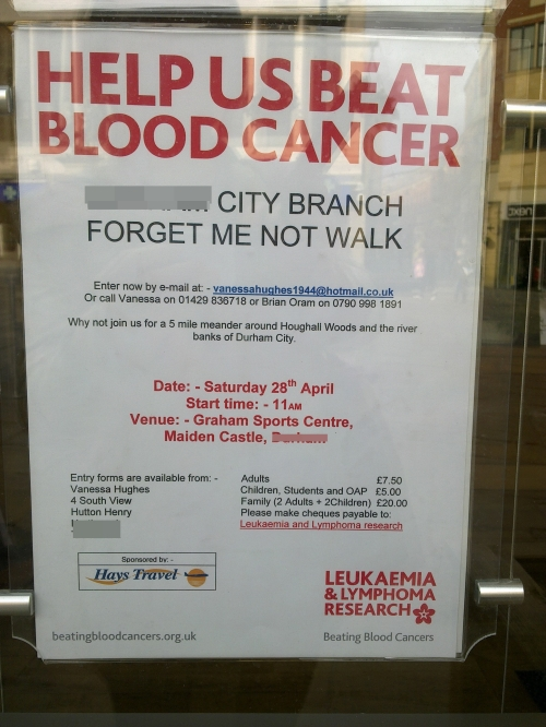 Blood cancer poster
